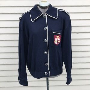 St.john vintage sportswear sailor anchor blazer L